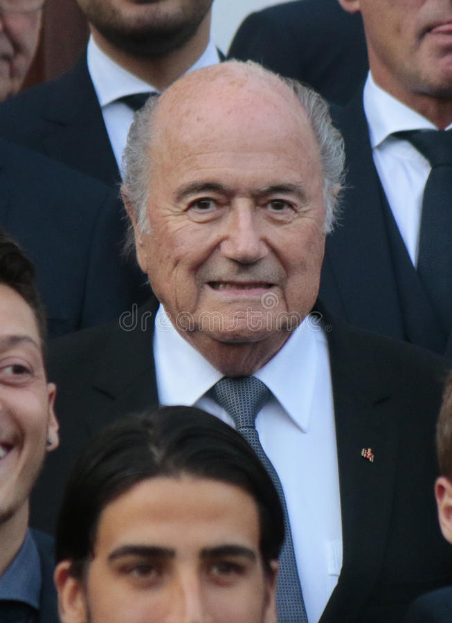 Sepp Blatter foto de archivo