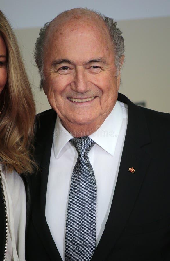 Sepp Blatter imagem de stock royalty free