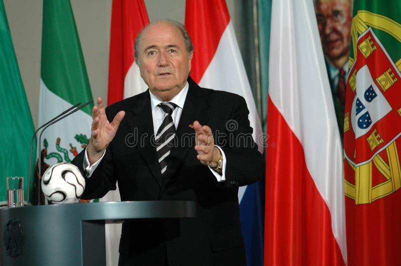 Sepp Blatter royalty-vrije stock foto