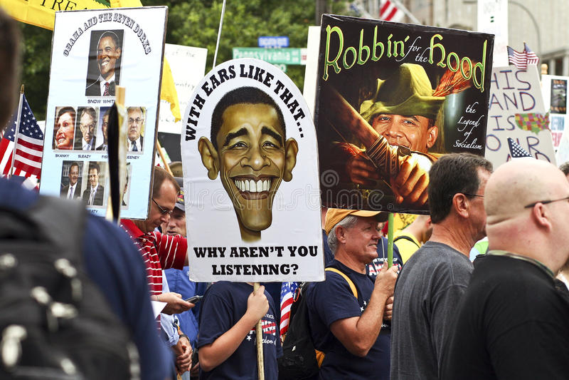 Sept 12, 2009: Tea Party March on Washington D.C. royalty free stock photo