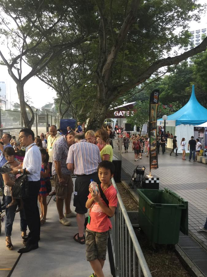 Sept för Singapore grand prix 2015 18 2015 royaltyfria bilder
