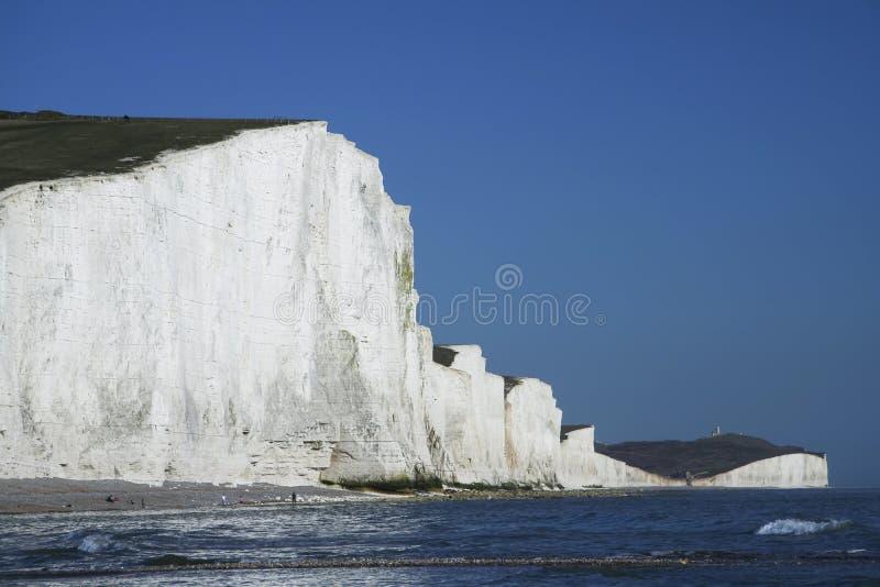Sept falaises de craie de soeurs le Sussex Angleterre photo stock