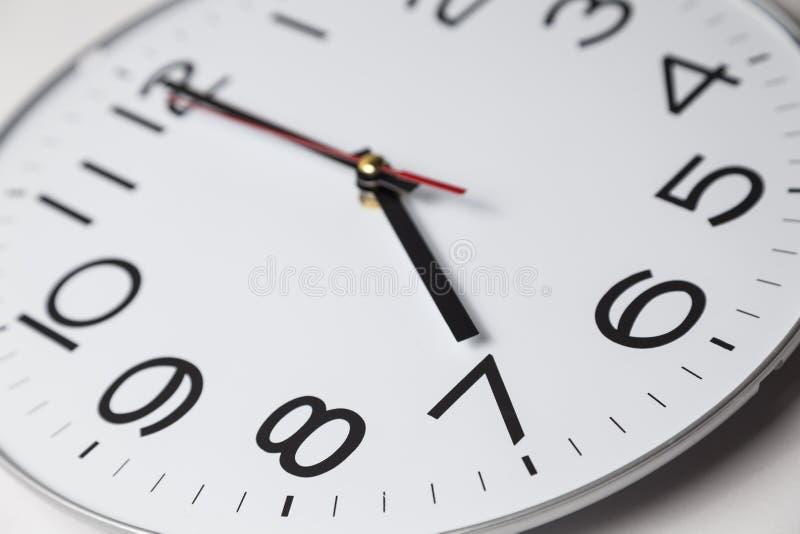 Sept heures photographie stock libre de droits