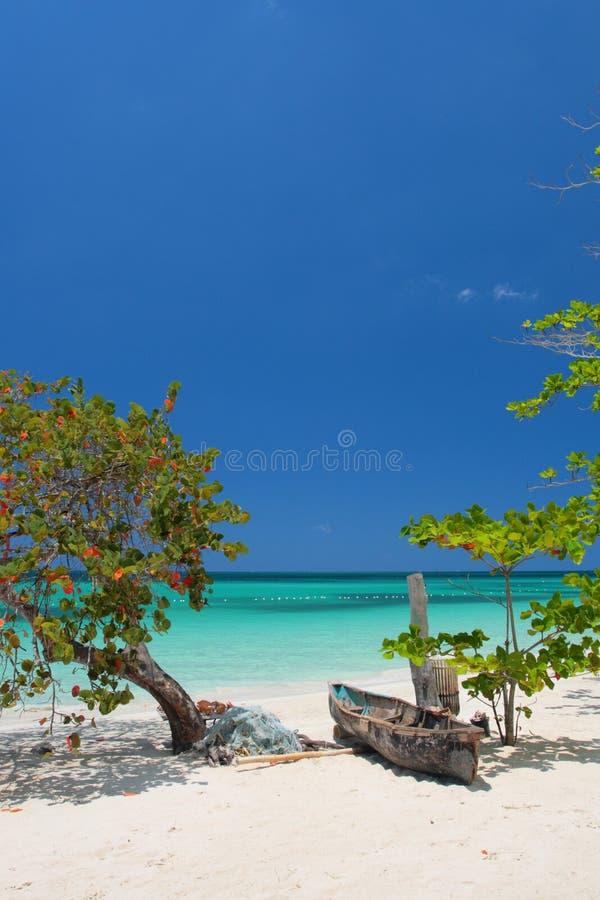 Sept milles de plage, Negril, Jamaïque photos stock