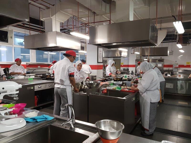 1 Sept. 2016, Sjah Alam Vrijgezel van de Culinaire praktische zitting van Art Student stock afbeelding