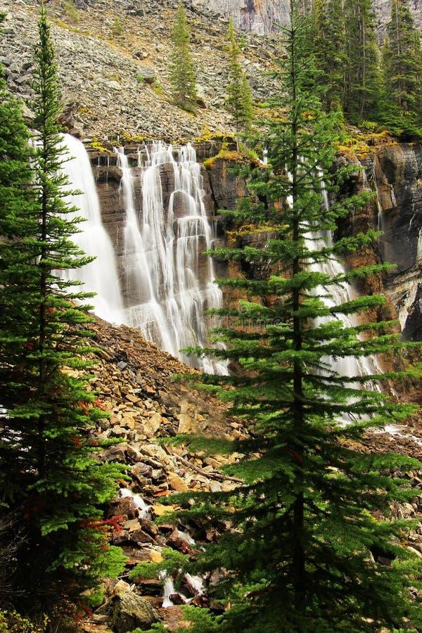 Sept voile des automnes, lac O'Hara, Yoho National Park, Canada images stock