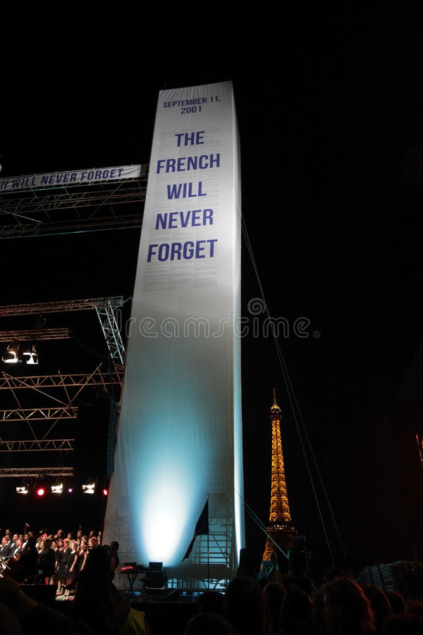 September 11 - French Will Never Forget stock photo