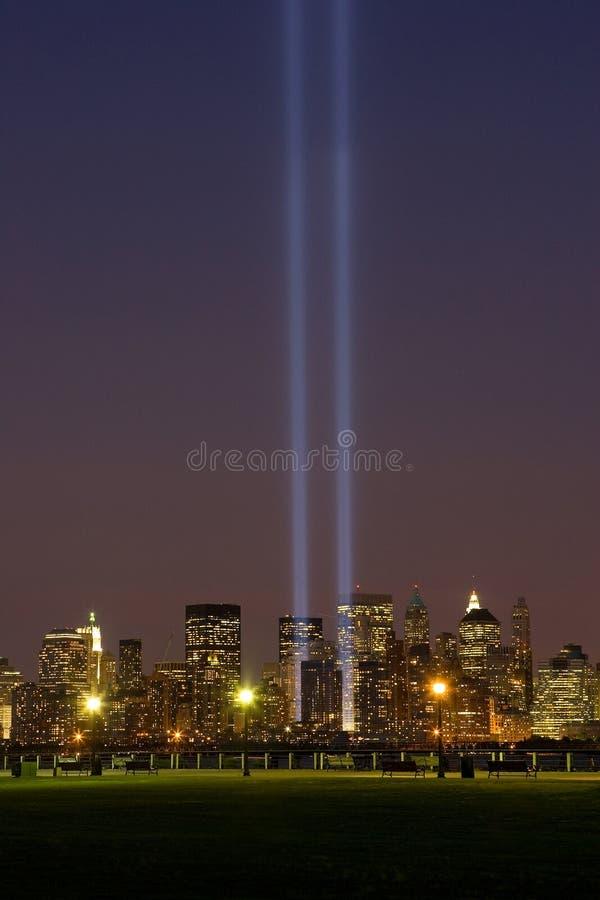 Download September 11 Light Memorial, New York City Stock Image - Image: 21659705