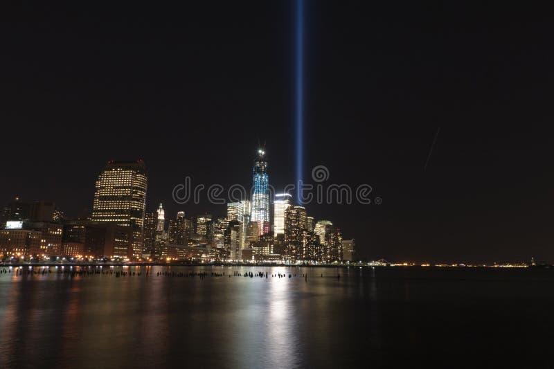 Download September 11 Tribute Lights Stock Image - Image: 26624811