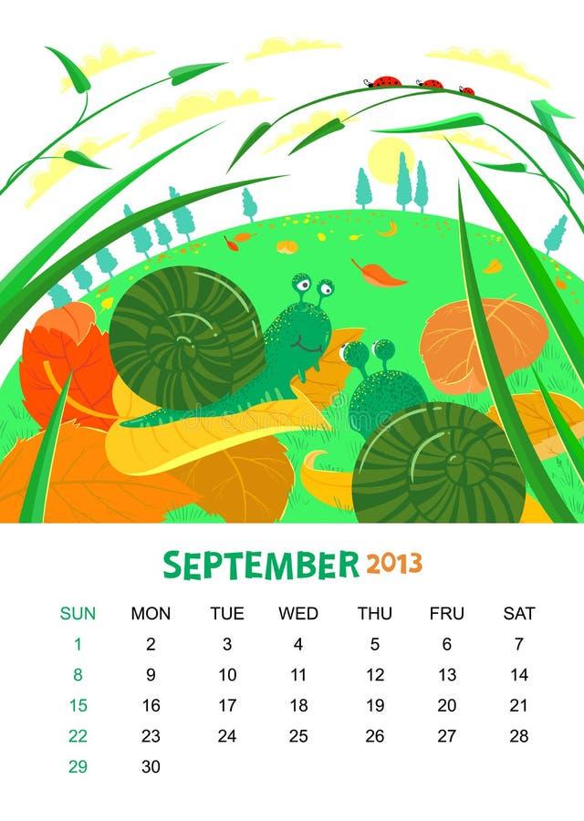 September vektor abbildung