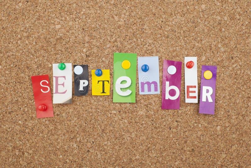 september stock fotografie