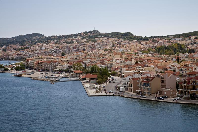 Waterfront in Argostoli stock image