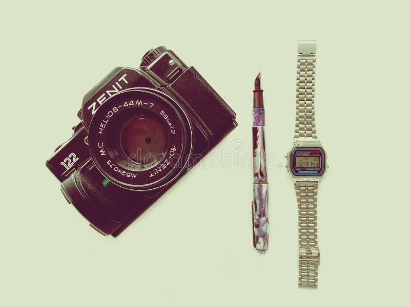 September, 22, 2017 Arzamas, alter Kamera Russlands Zenit lizenzfreie stockbilder