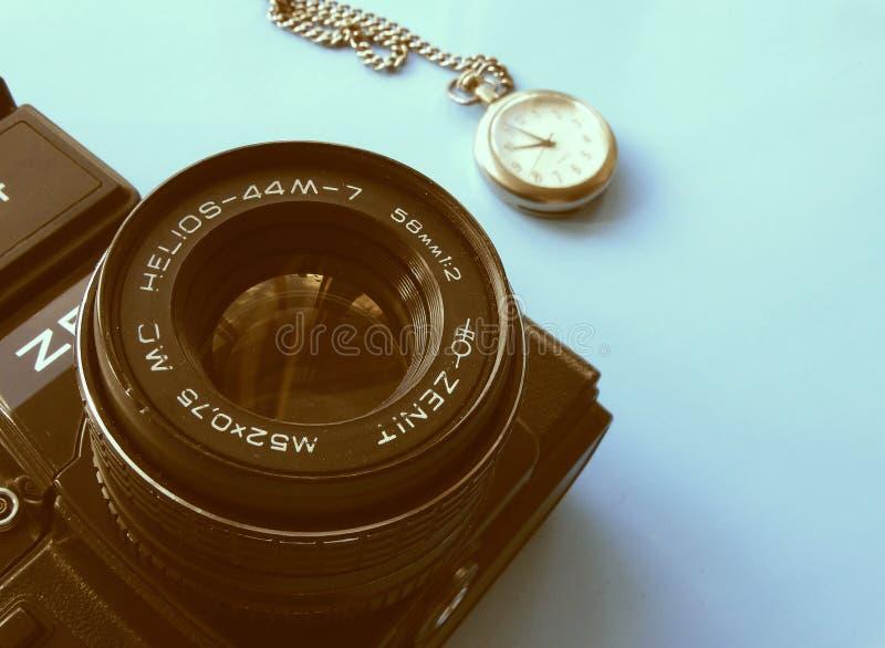 September, 22, 2017 Arzamas, alter Kamera Russlands Zenit lizenzfreies stockfoto