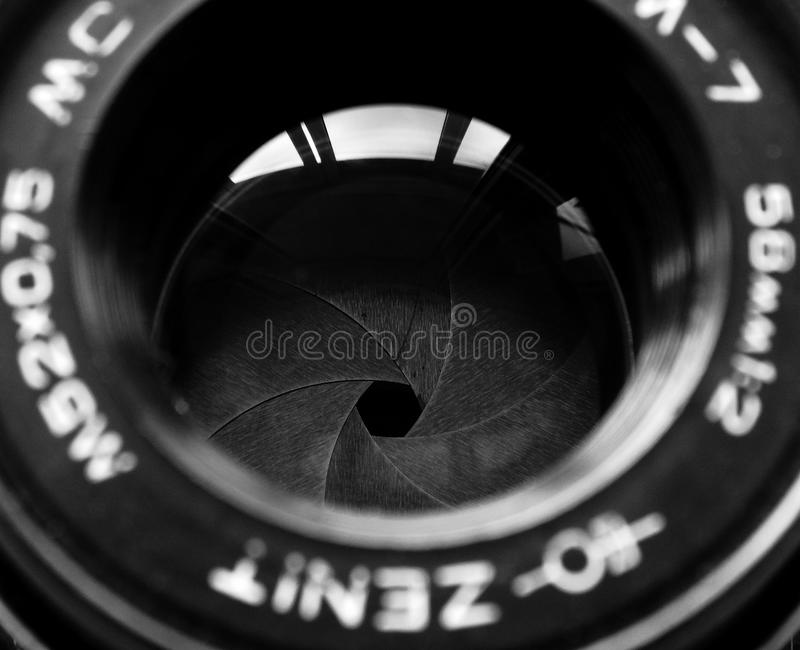 September, 22, 2017 Arzamas, Russia Old camera Zenith. Old camera Zenith vintage style retro background wallpaper photography style design lens 70s 80s 90s stock image
