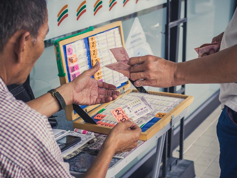 Lottery dealing royalty free stock photo