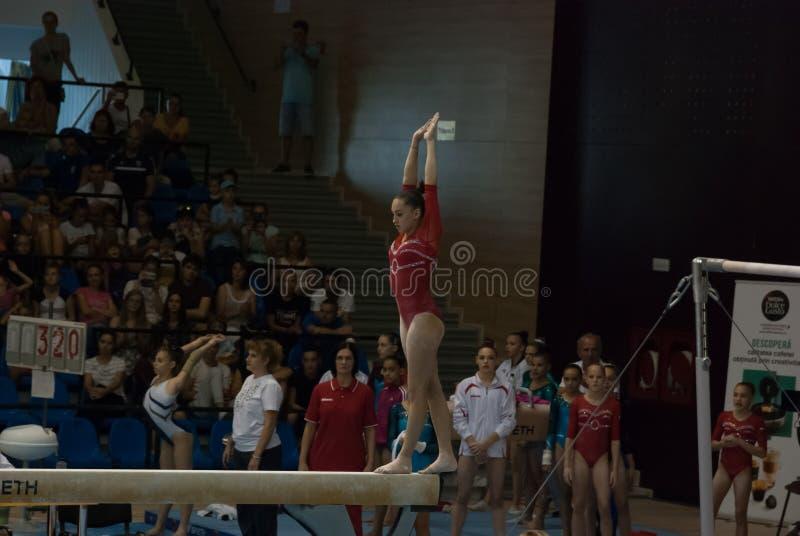 2 september de Vrouwen Nationale Gymnastiek van Ploiesti Roemenië van 2017 stock foto