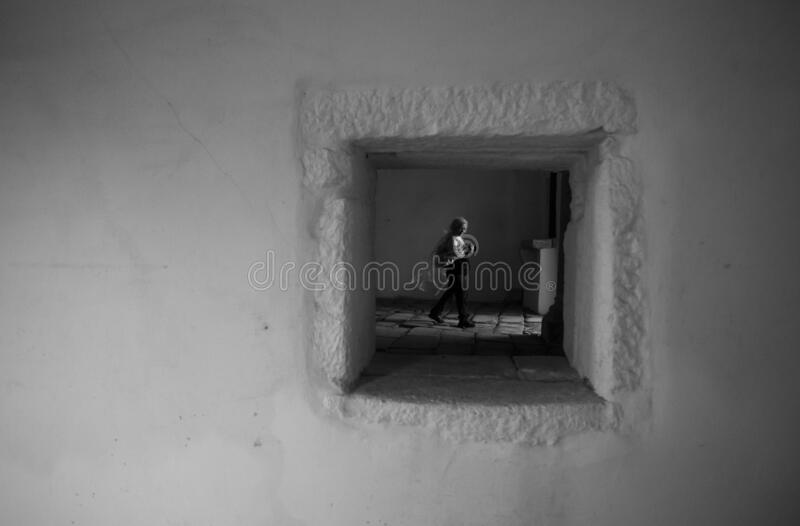 21 September 2019, An historic traveler destination during a photo tour in `Tibaes` Monastery, Braga, Minho. royalty free stock images