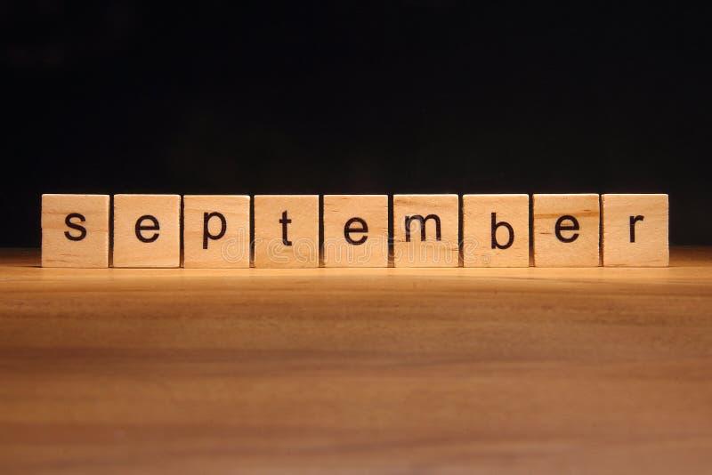 September-Holzklötze lizenzfreies stockfoto