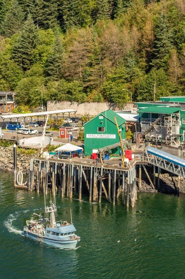 14. September 2018 - Juneau, Alaska: Abreisehafen der alaskischen kommerziellen Fischerei lizenzfreies stockfoto