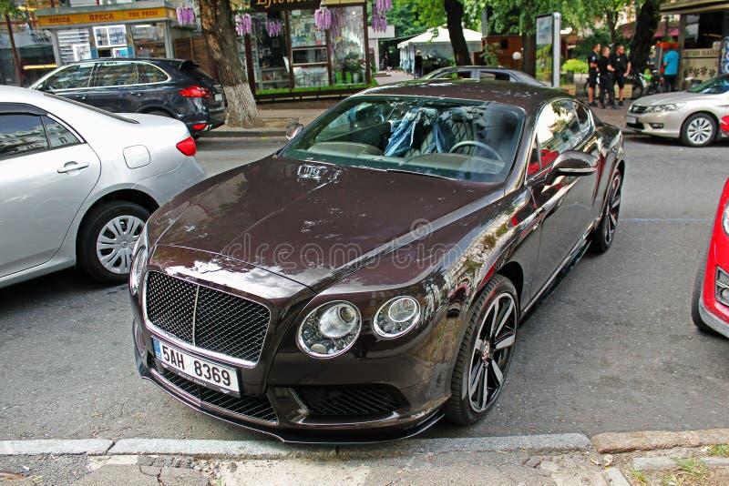 September 2017, Kiev - de Oekraïne; Bentley Continental GT royalty-vrije stock foto