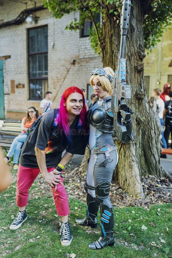 Festival of modern pop culture COMIC CON Ukraine September 22, 2018 Kiev, Ukraine, Art Plant Platform. royalty free stock image