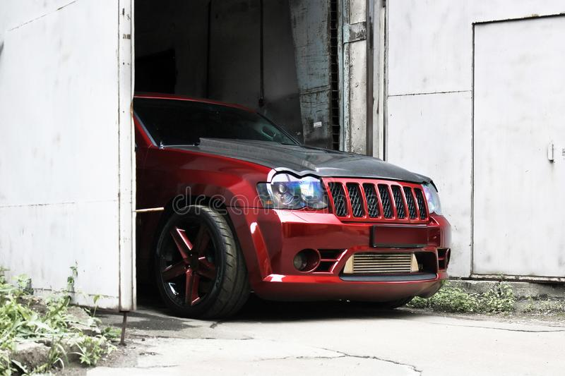 September 18, 2012, Kyiv. Jeep Grand Cherokee SRT8 royalty free stock photo