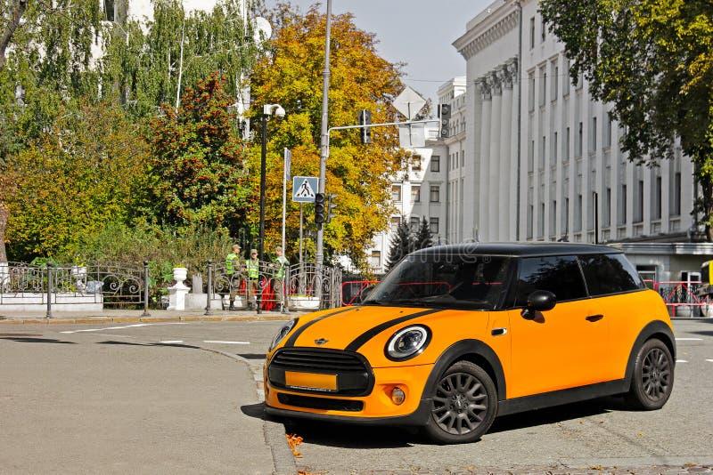 September 18, 2012, Kyiv. Ukraine. Mini Cooper in the city royalty free stock photos