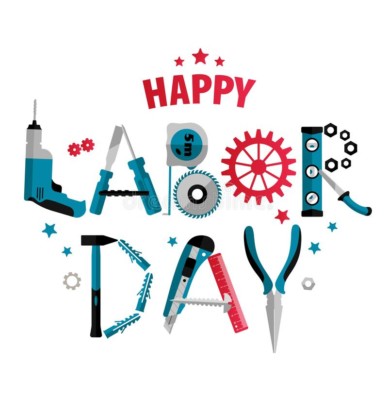 3 september Labor Day Poster or Banner. Vector Illustration royalty free illustration