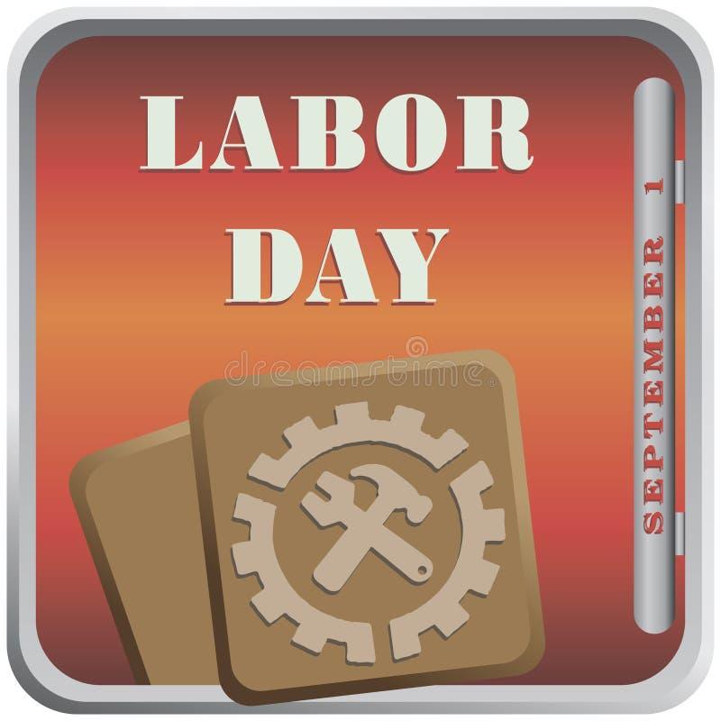 September Labor Day stock illustration