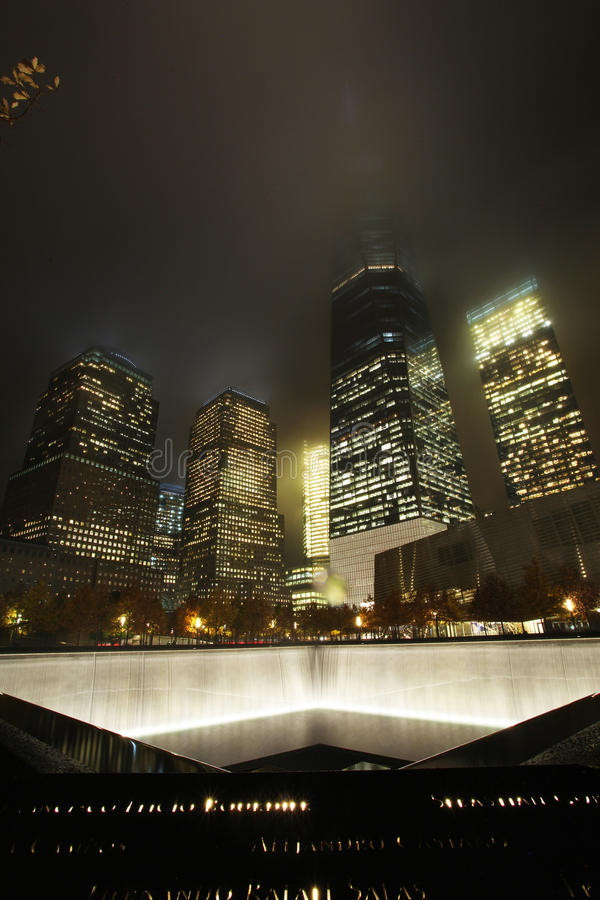 September 11 Memorial, World Trade Center. New York City, USA stock images