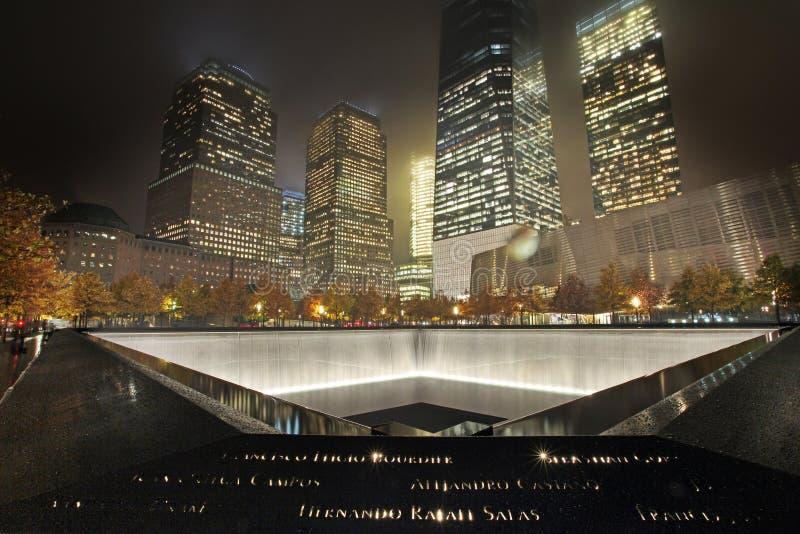 September 11 Memorial, World Trade Center. New York City, USA royalty free stock image