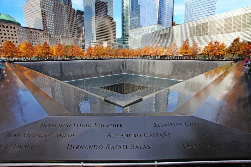 September 11 Memorial, World Trade Center. New York City, USA stock photos