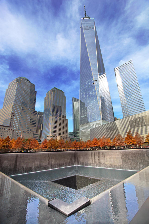 September 11 Memorial, World Trade Center. New York City, USA royalty free stock photo