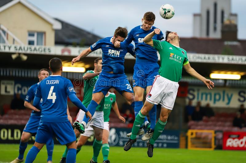 Rory Feely at the League of Ireland Premier Division match: Cork City FC vs Waterford FC. September 2nd, 2019, Cork, Ireland - Rory Feely at the League of royalty free stock photography