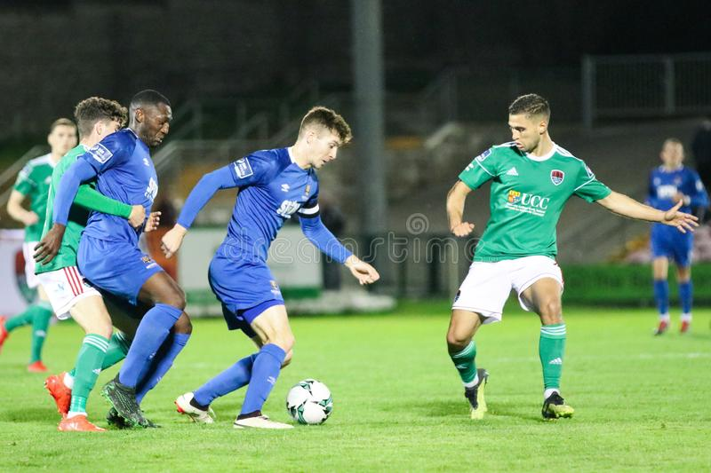 Rory Feely at the League of Ireland Premier Division match: Cork City FC vs Waterford FC. September 2nd, 2019, Cork, Ireland - Rory Feely at the League of royalty free stock photos