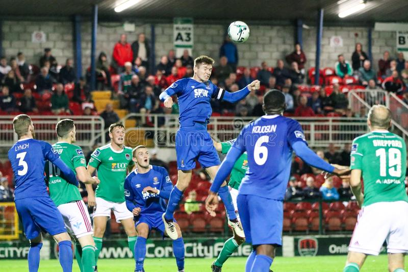 Rory Feely at the League of Ireland Premier Division match: Cork City FC vs Waterford FC. September 2nd, 2019, Cork, Ireland - Rory Feely at the League of stock photography