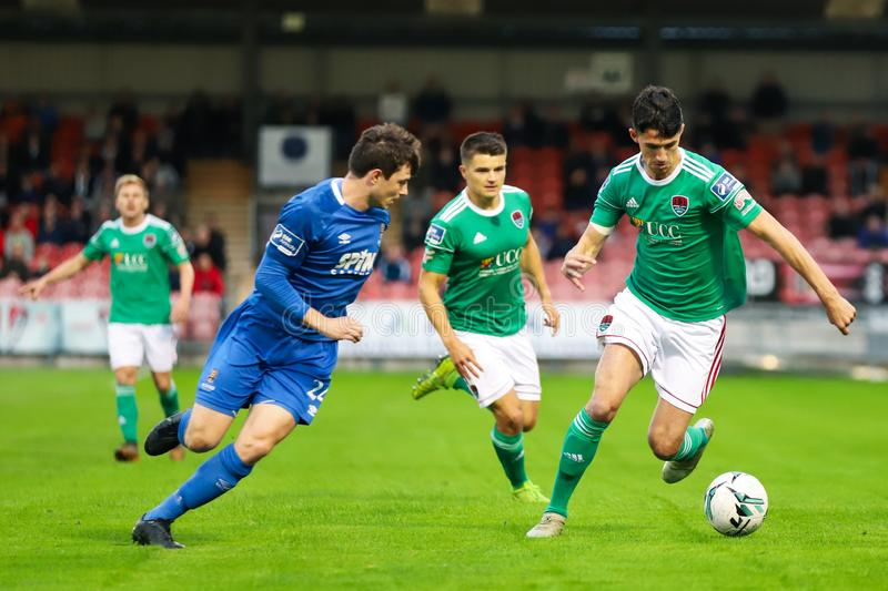 Shane Griffin at the League of Ireland Premier Division match: Cork City FC vs Waterford FC. September 2nd, 2019, Cork, Ireland - Shane Griffin at the League of royalty free stock image
