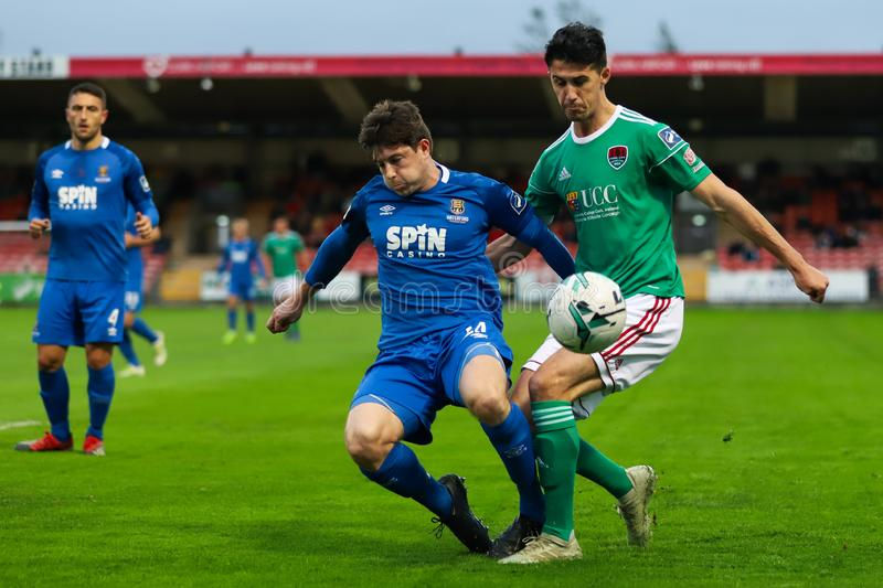 Shane Griffin at the League of Ireland Premier Division match: Cork City FC vs Waterford FC. September 2nd, 2019, Cork, Ireland - Shane Griffin at the League of royalty free stock photos