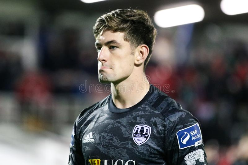 Tadgh Ryan at the League of Ireland Premier Division match: Cork City FC vs Waterford FC. September 2nd, 2019, Cork, Ireland - Tadgh Ryan at the League of stock image