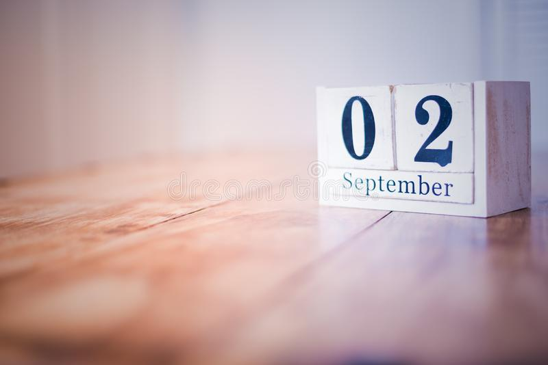 2 September - 2nd September - Happy Birthday - National Day - Anniversary stock photo