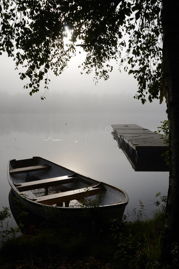 Download September's Foggy Lake View Stock Image - Image: 26537545