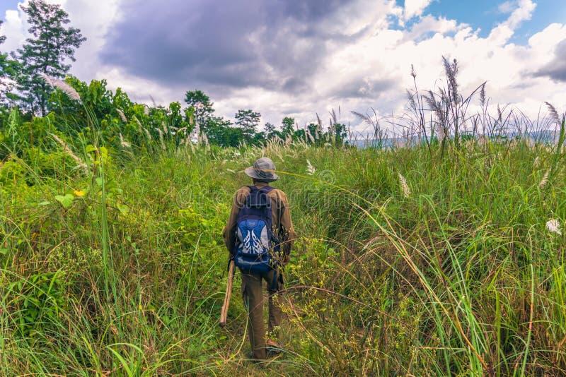 September 03, 2014 - Safari guide in of Chitwan National Park, N royalty free stock image