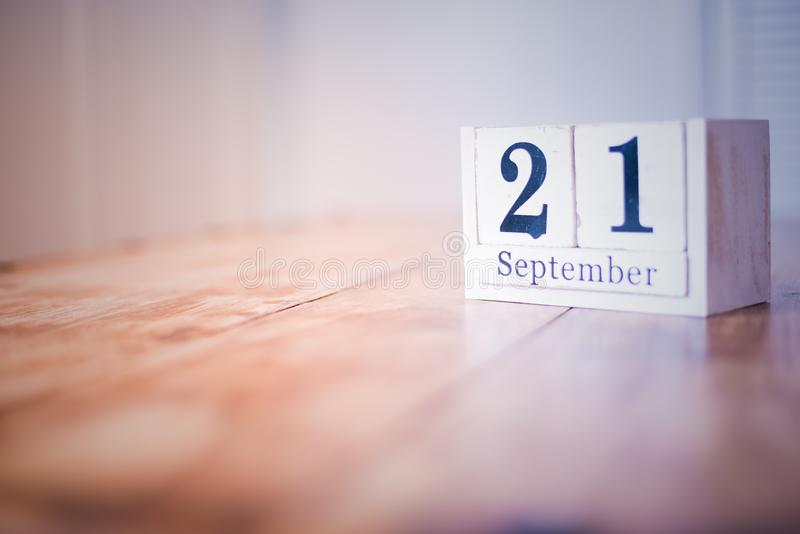 21 September - 21st of September - Happy Birthday - National Day - Anniversary stock images