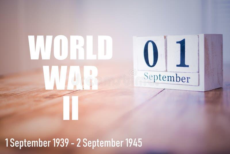 World War II. Second World War. 1 September 1939. royalty free stock image
