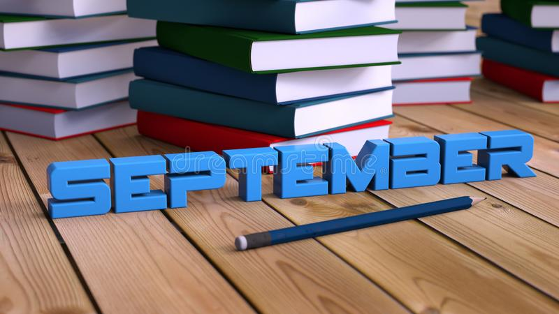 September-Text und -bücher stockbilder