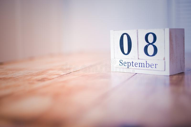 8 September - 8th of September - Happy Birthday - National Day - Anniversary stock photos