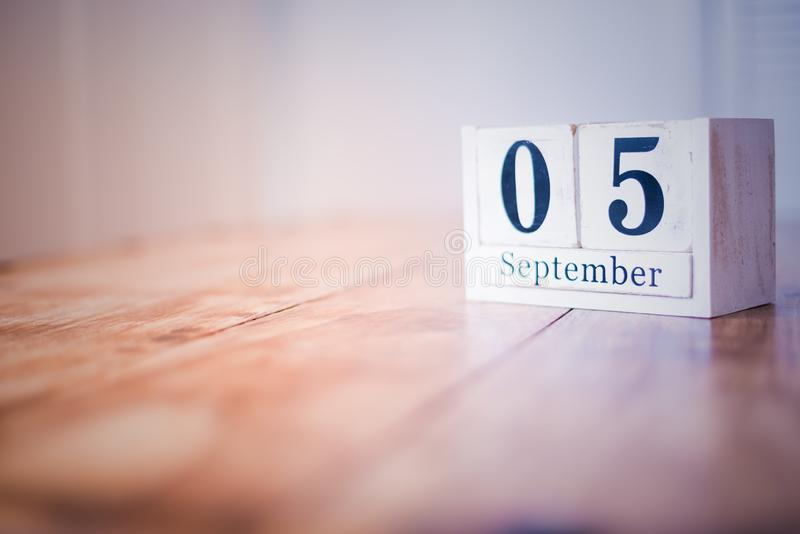 5 September - 5th of September - Happy Birthday - National Day - Anniversary royalty free stock image