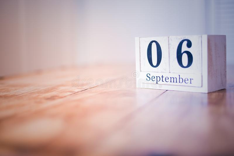 6 September - 6th of September - Happy Birthday - National Day - Anniversary stock image