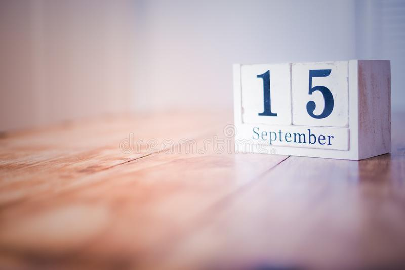 15 September - 15th of September - Happy Birthday - National Day - Anniversary stock image